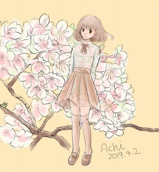 藤村阿智・桜と少女