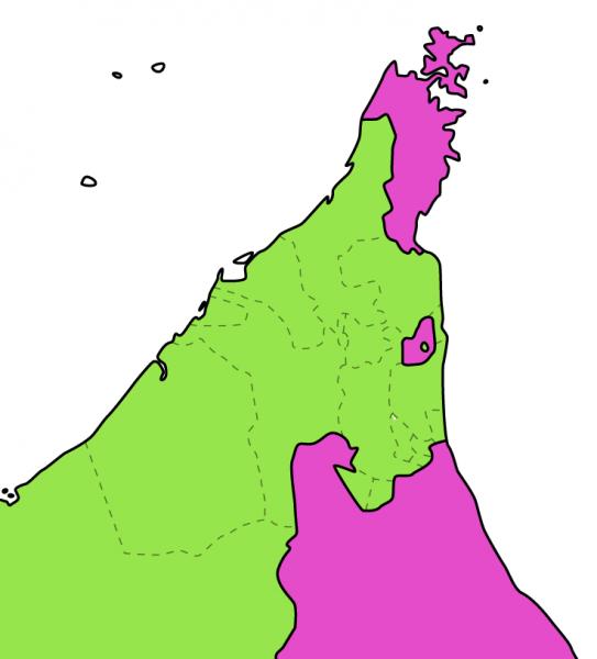 オマーンとUAEの地図